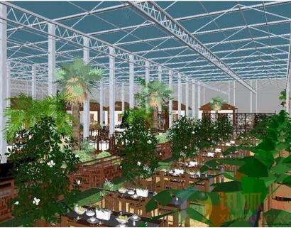 生态餐厅温室骨架